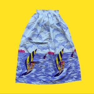 Vintage Hand Made Kite Surfing Midi Skirt